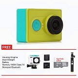 XIAOMI Yi Action Camera Package - Green (Merchant) - Camcorder / Handycam Flash Memory
