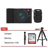 XIAOMI Yi M1 Mirrorless Digital Camera Kit Paket Combo - Black (Merchant)