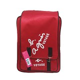 YONIKO SERBA Tas Agnis Backpack Korean Style - Merah - Backpack Wanita