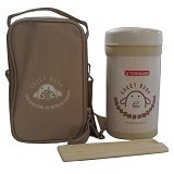 YOSHIKAWA Lunch Box 1 liter [DO100] - Cream - Lunch Box / Kotak Makan / Rantang