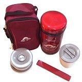 YOSHIKAWA Lunch Box 1 liter [DO100] - Red - Lunch Box / Kotak Makan / Rantang