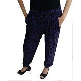 YOURA Celana Joger Jerapah Size M [CJ005] - Purple Black (Merchant) - Celana Panjang Wanita