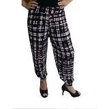 YOURA Celana Joger Kotak Size M [CJ004] - Black White (Merchant) - Celana Panjang Wanita