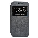 ZAGBOX Flip Cover Samsung Galaxy Note 4 Edge - Grey (Merchant) - Casing Handphone / Case