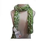 ZARA Scarf Polka [ZR-S1108] - Green (Merchant) - Syal Wanita