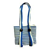 ZIP N ROLL Tote Bag [TB001] - Blue Cream - Tote Bag Wanita