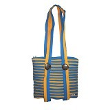 ZIP N ROLL Tote Bag [TB001] - Blue Yellow - Tote Bag Wanita