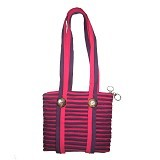 ZIP N ROLL Tote Bag [TB001] - Pink Purple - Tote Bag Wanita