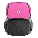 ZONKER Backpack with Laptop Slot + Rain Cover - Pink (Merchant) - Notebook Backpack