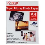 e-Print Glossy A4 Aluminium Pack [PP-GLO-007] - Kertas Foto / Photo Paper