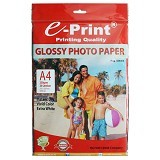 e-Print Glossy Photo Paper A4 [PP-GLO-009] - Kertas Foto / Photo Paper